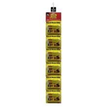 Rat & Mouse Killer Grain Bait - 6 x 25g Sachets Clipstrip