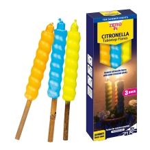 Table Top Citronella Flares - 3-Pack