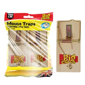 Wooden Mouse Trap - 4-Pack