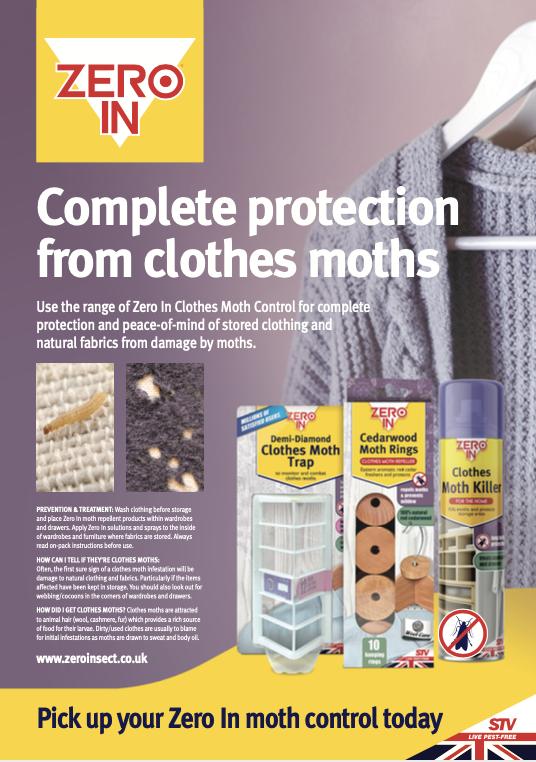 STV International Zero In Clothes Moth Poster
